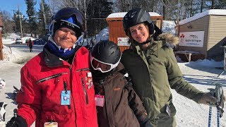 Instructor with cerebral palsy inspires kids with disabilities to ski