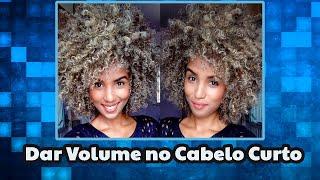Como dar volume em cabelo cacheado curto | Nanai Costa.