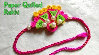DIY Rakhi Making With Paper Quilling For Raksha Bandhan | How To | Craftlas