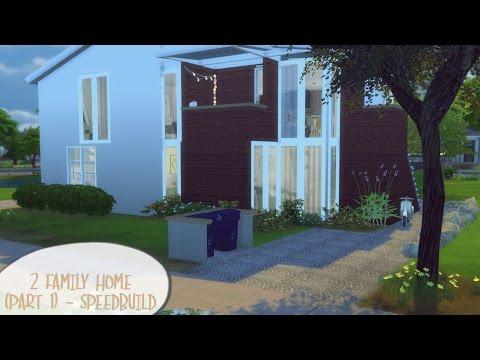 2 FAMILY HOME (PART 1) ♥ I Sims 4 - Speedbuild