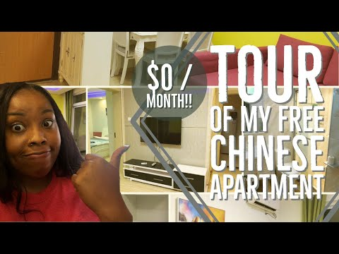How I'm Living in China! | Tour of my FREE Chinese apartment | Shanghai, China