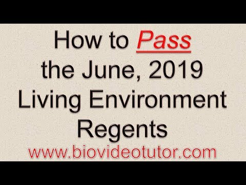 How To Pass The June 2019 Living Environment Regents Youtube