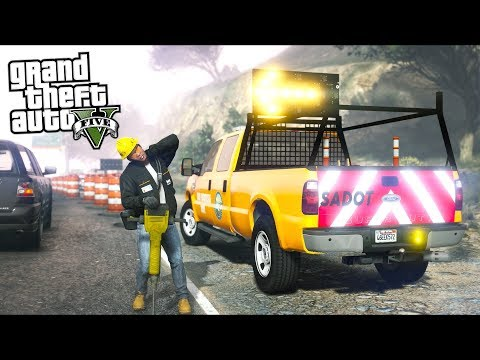 GTA 5 - Construction Zone Worker (Real Life Ep11)!!