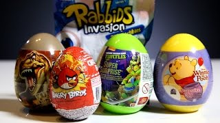 WINNIE the POOH Stacking Cups hidden SURPRISE EGGS and BLIND BAGS unboxing MLP, CARS, Disney PRINCESS, ANGRY BIRDS  – 3S