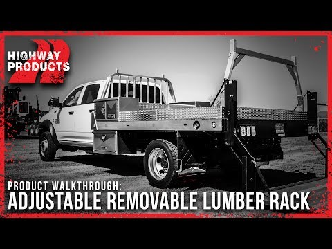 Highway Products | Flatbed Adjustable Lumber Rack