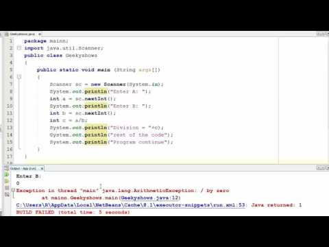 182. Example of Checked Exception and Unchecked Exception in Java Programming (Hindi)
