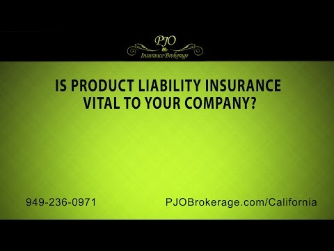 Is product liability insurance vital to your company? | PJO Insurance Brokerage