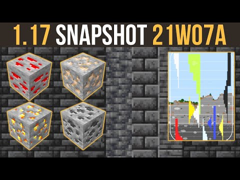 Minecraft 1.17 Snapshot 21w07a Grimstone & New Ore Generation
