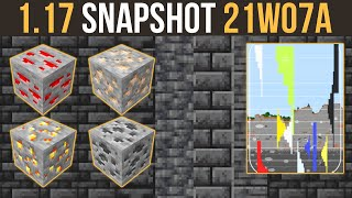 Minecraft 1.17 Snapshot 21w07a Grimstone & New Ore Generation