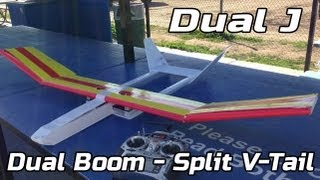 Dual J - Dual boom and split v-tail experimental aircraft