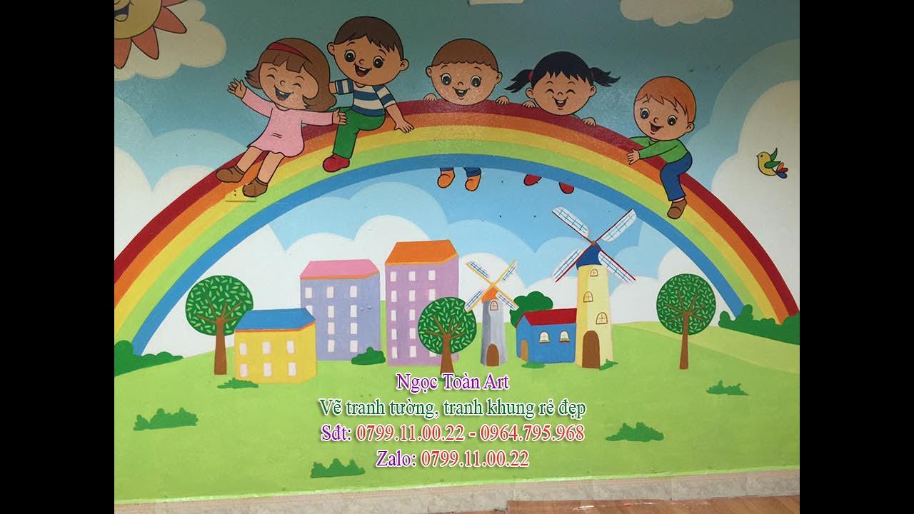 Vẽ tranh tường mầm non, tiểu học đẹp giá rẻ tại Hà Nội