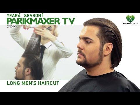 Мужская стрижка на длинных волосах. Long Mens Haircut парикмахер тв parikmaxer.tv
