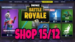 SHOP FORTNITE today 15 DECEMBER: SPECIAL sTYLISY skin and new DORSO dance