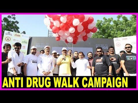 Anti Drug Walk Campaign at KBR Park | Venkaiah Naidu | Shivaji Raja | Tollywood Updates