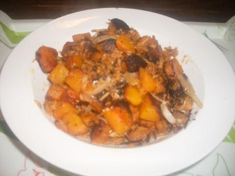 recette-potimarron-sauté-oignon-et-thon