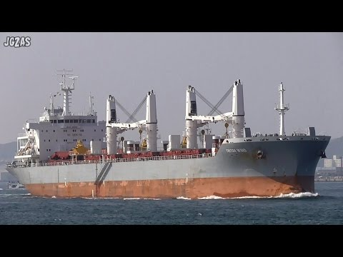 TRITON WIND Bulk carrier バラ積み船 関門海峡 HELLENIC CARRIERS 2015-OCT