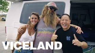 "Eddie Huang and Nick ""Kickstand"" Masciangelo in Hawaii"