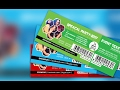 How to Create an Event Ticket | Adobe Photoshop CC Tutorial