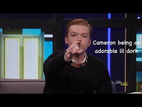 Cameron Monaghan being an adorable dork   Happy Birthday Emily  