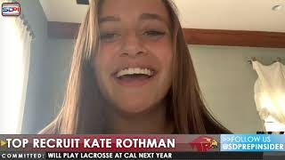 Top Recruit Kate Rothman from Torrey Pines Lacrosse