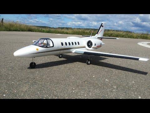 Радиоуправляемый самолет Dynam Cessna 550 Turbojet ... Полеты