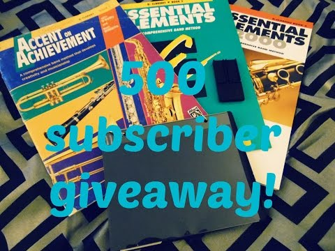 ClarinetAddict Giveaway! 500 subscribers!!!! *CLOSED*