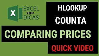 hLOOKUP - PRICE COMPARISON SHEET EXCEL TOP DICAS - ENGLISH
