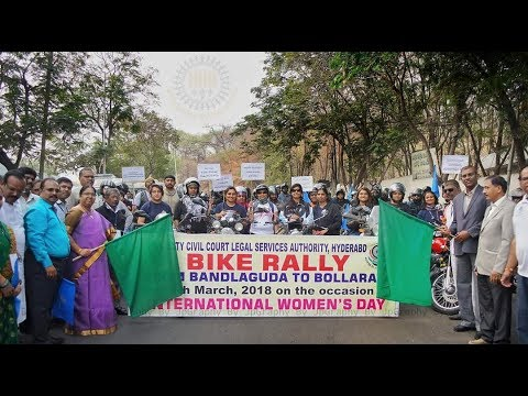 Motorcycle Rally organized by City Civil Court Legal Services Authority for Women Safety and Justice