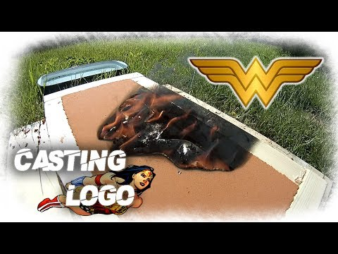 Casting Wonder Woman Logo Out Of Aluminum
