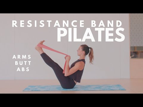 Resistance Band Pilates Workout | Arms, Butt, Abs | 15 Minute Routine | Lottie Murphy