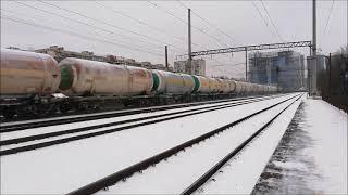 Электровоз ВЛ80т 1454 Электровоз на перегоне у вагонного депо Киев Пассажирский 1 02 2021 г
