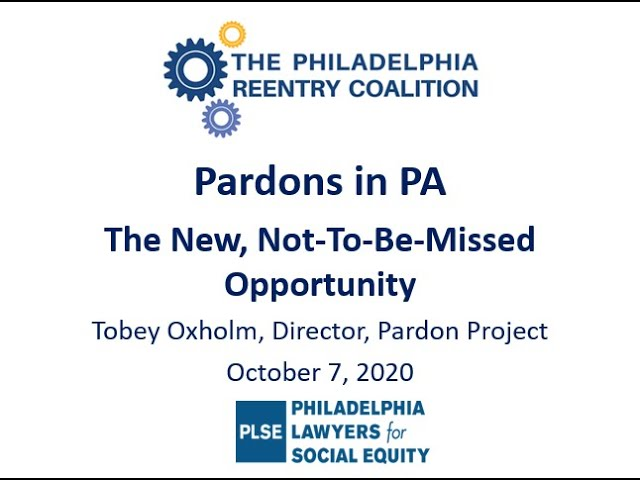 PRC Pardons Training: Recording and Resources