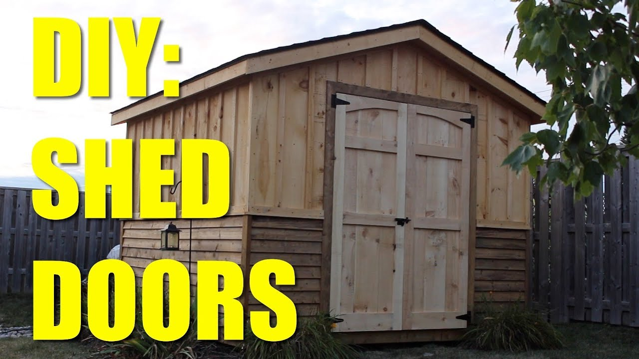 Easy Build Shed Doors Youtube
