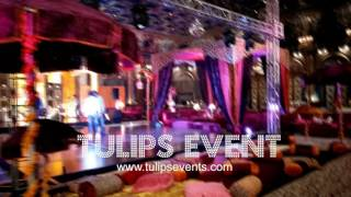 Best Pakistani Wedding Mehndi Stage Decoration By Tulips Events