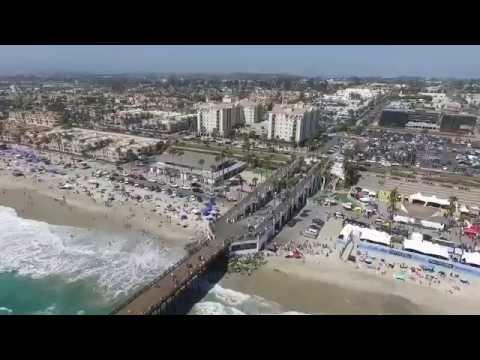 DRONE OVER OCEANSIDE PIER