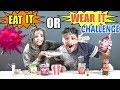 EAT IT OR WEAR IT CHALLENGE FRIEND VS FRIEND Food Challenge India Ep 86 mp3