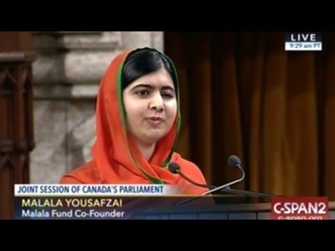 Malala Yousafzai Addresses A Joint Session Of Canadian Parliament
