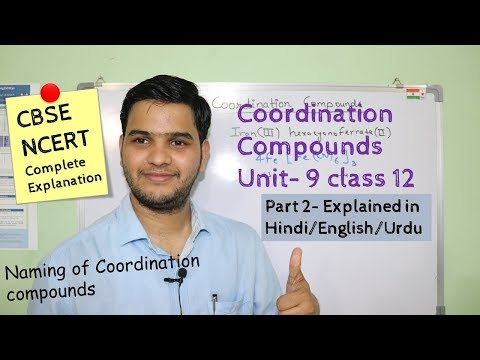 Coordination Compounds class 12  part 2 #NCERT Naming explained in Hindi/اردو