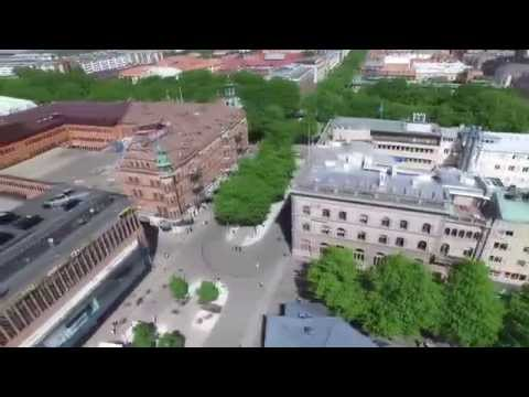 DJI Phantom 3 Advanced, Downtown Gävle, Sweden.