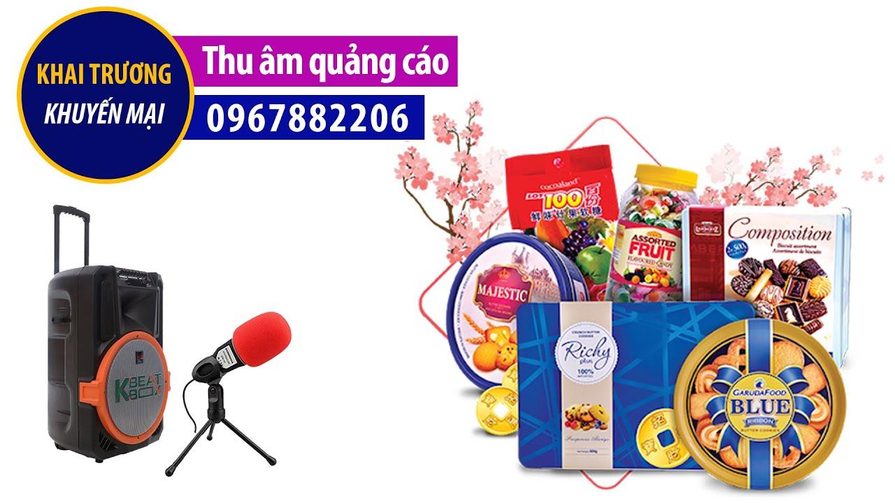Thu âm quảng cáo phát loa bán hàng công ty Vindrink MC đọc khai trương khuyến mại 0967882206