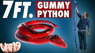 26-Pound Gummy Python is a 7 foot long candy snake!