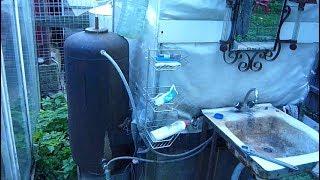 Летний водопровод душ с подогревом холодной и нагревом горячей водой на даче своими руками  видео Su