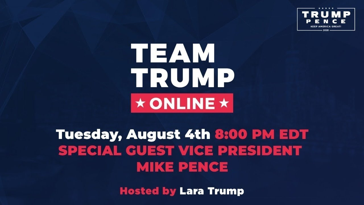 WATCH: Team Trump Online with Lara Trump and Vice-President Mike Pence!