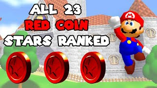 Ranking All 23 Red Coin Stars In Super Mario 64!