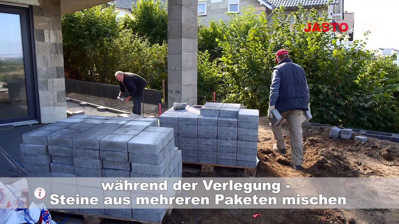 granit pflastersteine verlegen verlegung natursteinpflaster youtube granitpflaster in beton. Black Bedroom Furniture Sets. Home Design Ideas