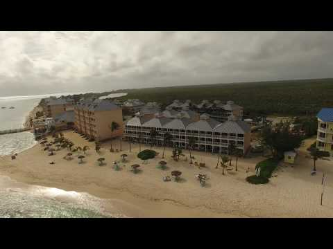 Flying over the Wyndam in East End Grand Cayman