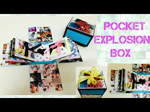 Cute And Simple Explosion Box Diy Explosion Box For Boyfriend Birthday Gift Ideas At Home Scrapbook