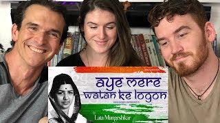 Lata Mangeshkar American REACTION! Aye Mere Watan Ke Logo