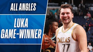 ALL-ANGLES: 🚨 LUKA DONCIC GAME WINNING FLOATER FROM 3! 🚨