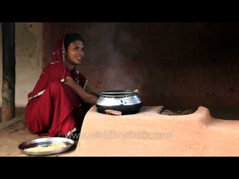Indian woman cooks f